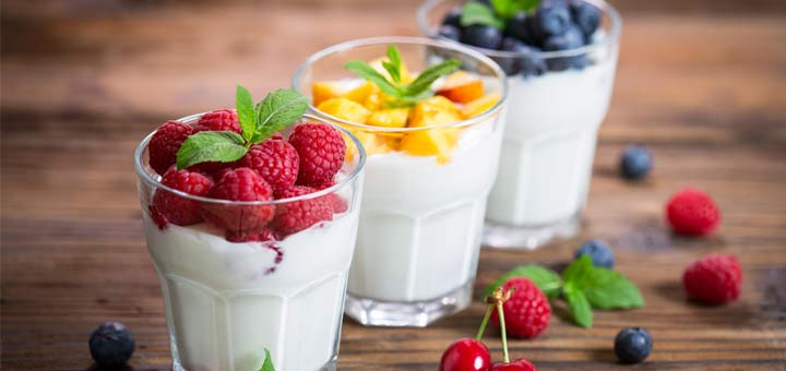 Raw Yogurt For A Light Breakfast Or Snack