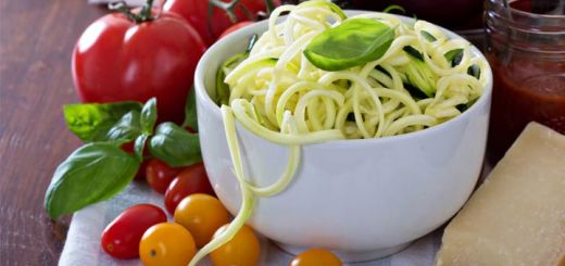Raw Alfredo Sauce With Zucchini Noodles