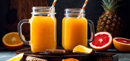 Orange Watermelon Turmeric Juice With Ginger