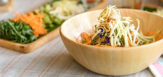 Raw Bean Sprout And Shredded Carrot Salad