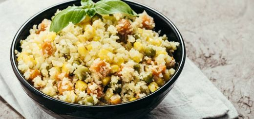 Cauliflower Fried Rice With Veggies And Pineapple