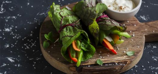 Collard Wraps With Mixed Vegetables
