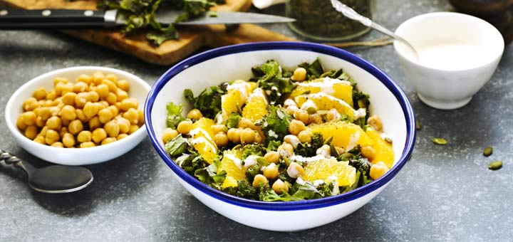 Lemony Kale Salad With Chickpeas