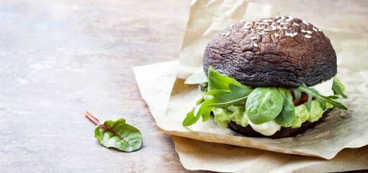Raw Dehydrated Portobello Mushroom Burgers