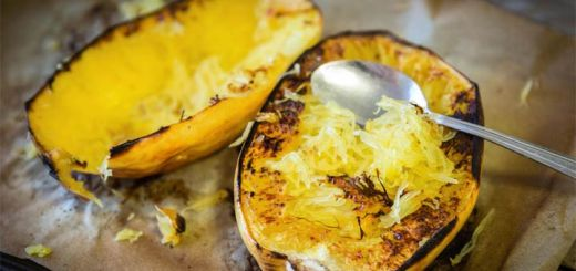Baked Spaghetti Squash That Is Vegan And Keto