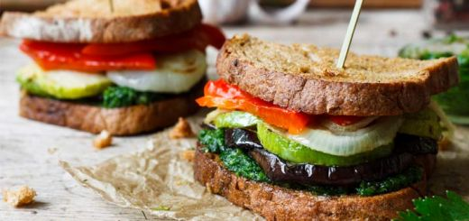 Roasted Eggplant Sandwich