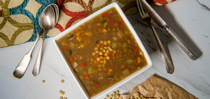 Moroccan Sweet Potato And Lentil Soup