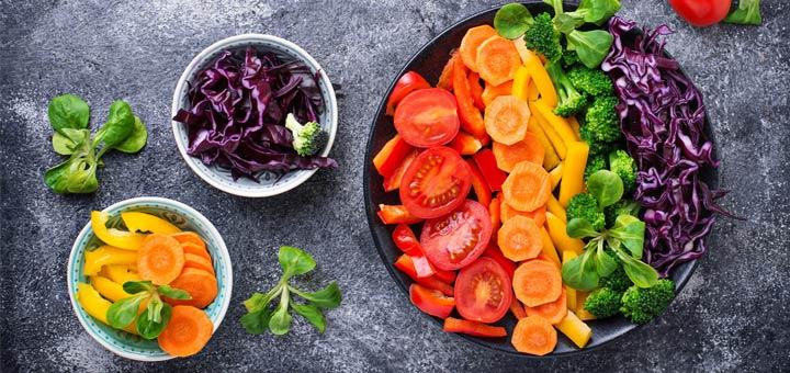 Rockin' Raw Rainbow Power Salad