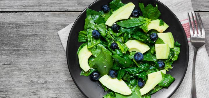 Spinach, Blueberry, And Avocado Salad