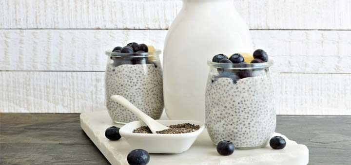 Quick And Easy Banana Blueberry Chia Pudding