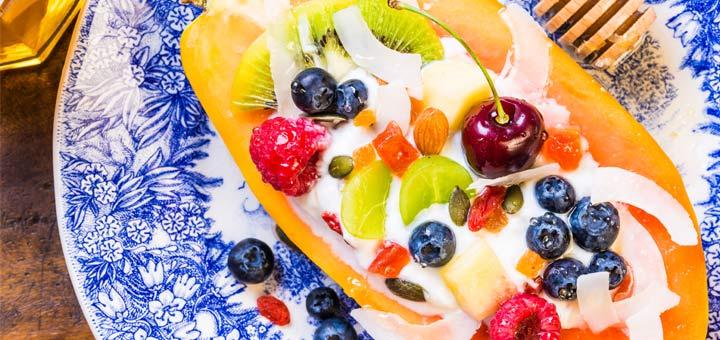 Raw Vegan Papaya Breakfast Boats