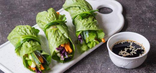 Crunchy Raw Romaine Wraps