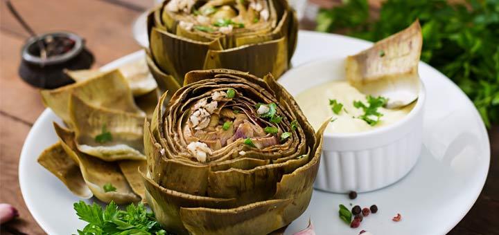 Oven Roasted Artichokes With Garlic & Lemon