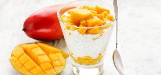 Raw Mango Yogurt With A Mango Chia Jam
