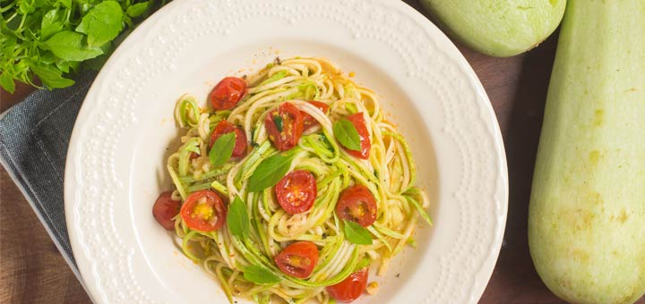 Power Zucchini Pasta With A Hemp Seed Alfredo