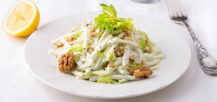 Fuji Apple Walnut Salad With A Maple Vinaigrette