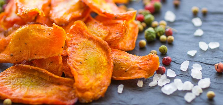 Post Cleansing Snack: Baked Carrot Chips