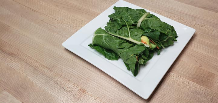 Raw Collard Wraps With A Curry Sunflower Seed Paste