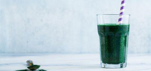 Glowing Green Spirulina Smoothie