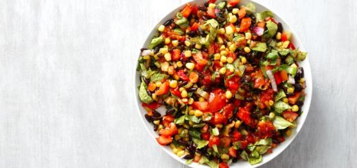Black Bean Taco Salad With A Cilantro Vinaigrette