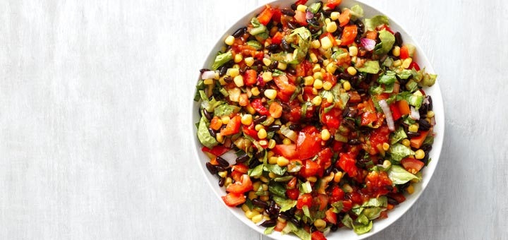 Black Bean Taco Salad With A Cilantro Vinaigrette