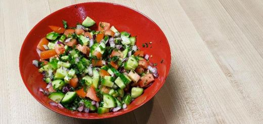 Raw Shirazi Salad