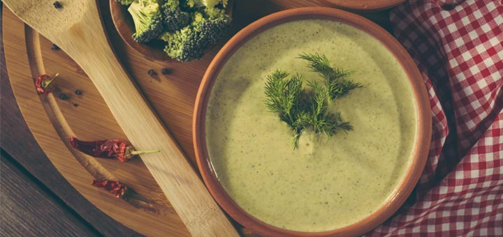 Raw Cream Of Broccoli Soup