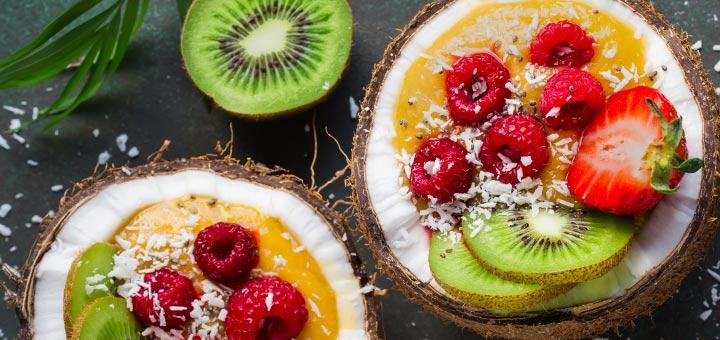 Mango Smoothie Bowl For Breakfast