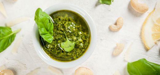 Simple Vegan Cashew Pesto