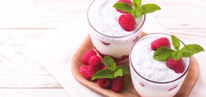 Raspberry Chia Seed Pudding