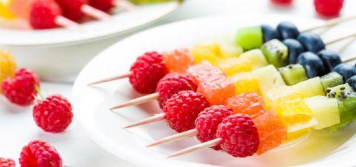Rainbow Fruit Kebabs