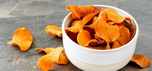 Homemade Dehydrated Sweet Potato Chips