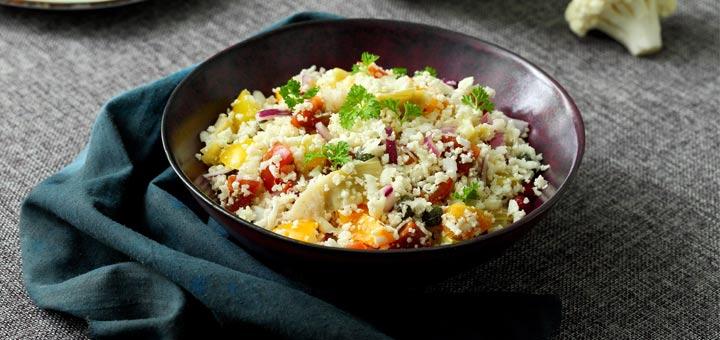 Vegetable Cauliflower No-Fried Rice