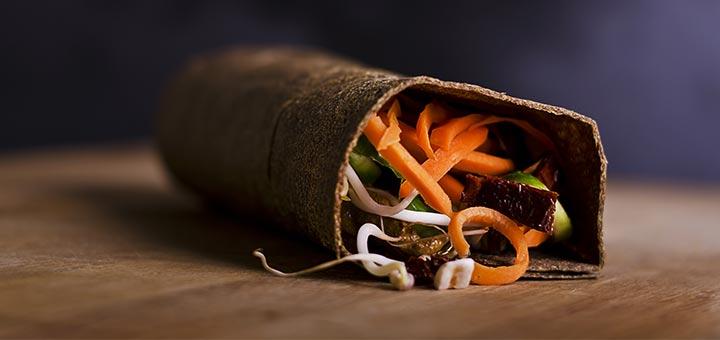 Raw Wraps With A Pumpkin Seed Spread