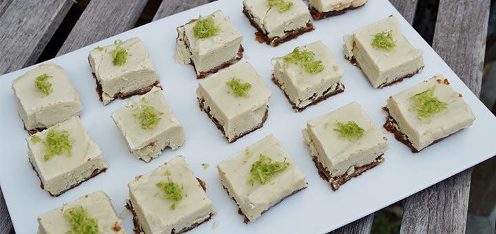 Raw Vegan Key Lime Pie Squares