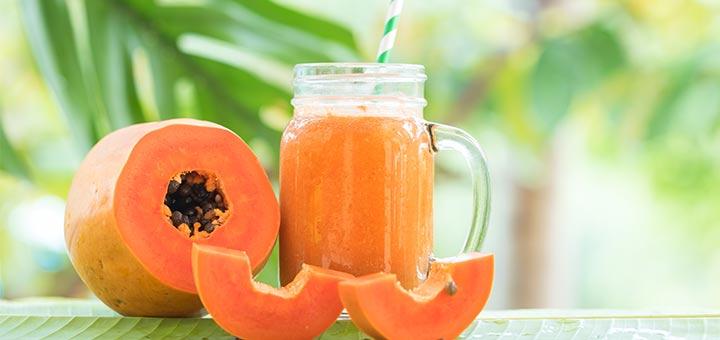 Tropical Papaya Passion Smoothie