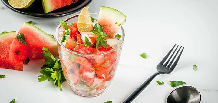 Watermelon Cucumber Salsa