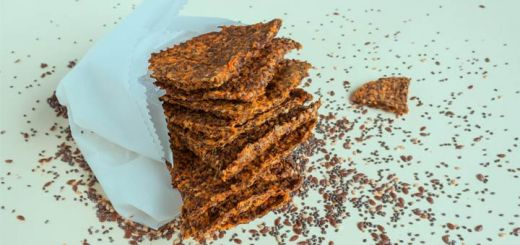 Dehydrated Carrot Pulp And Flax Crackers