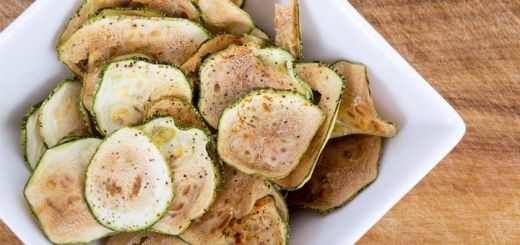 Salt And Pepper Dehydrated Zucchini Chips
