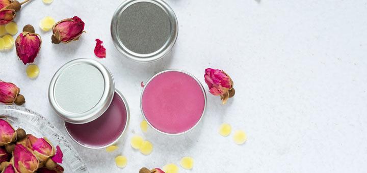 DIY Rose Vanilla Lip Balm