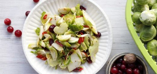 Brussels Sprouts, Apple, & Cranberry Salad
