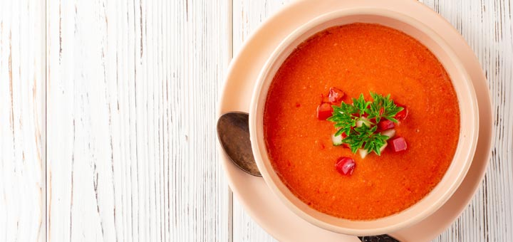 Raw Vegan Red Pepper Soup