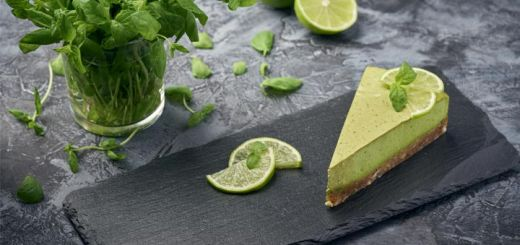 Healthy Avocado Lime Cheesecake