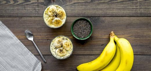 Banana Chia Pudding For Breakfast
