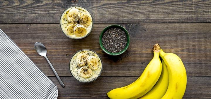 Banana Chia Pudding For Breakfast