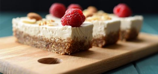 Zesty Raw Orange Cheesecake Bars