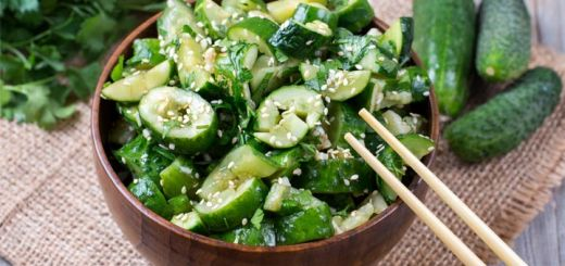 Spicy Sesame Cucumber Salad