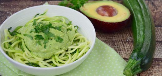 Zucchini Noodles In An Avocado Sauce