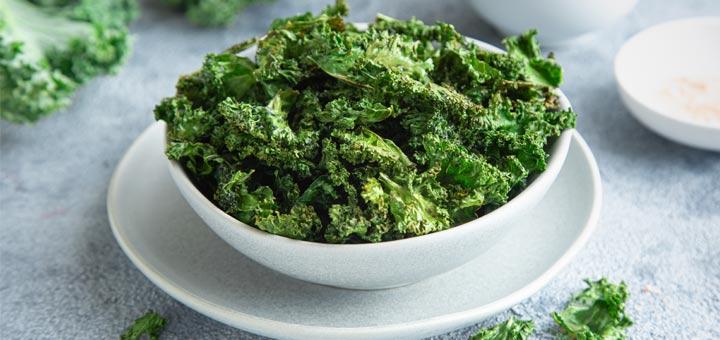Crispy Air Fryer Kale Chips