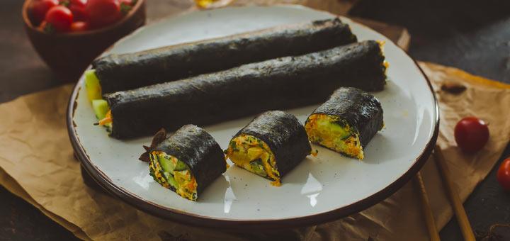 Raw Vegan Shiitake Mushroom Sushi